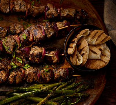COFFEE-MARINATED PORK TENDERLOIN SKEWERS